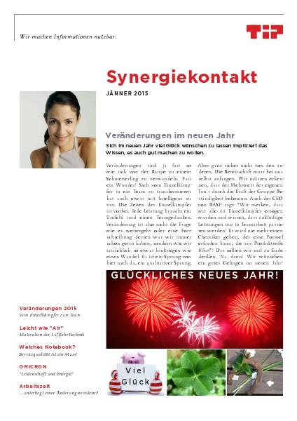 Synergiekontakt 2015 Synergiekontakt Jänner