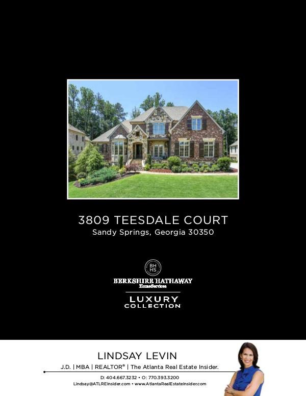 Sandy Springs Homes Stunning Home at 3809 Teesdale Court 30350