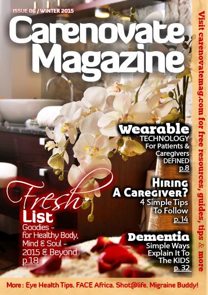 CareNovate Magazine Winter 2015 - Issue 6