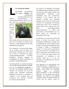 Mundo Animal... Salvemos al Gorila de Odzala... 02 2013