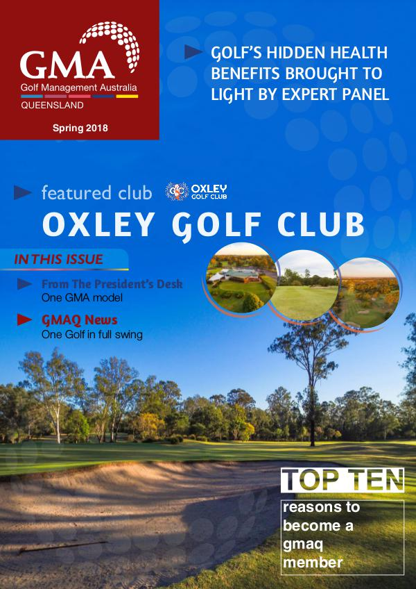 GMAQ - Golf Management Australia Queensland GMAQ  Spring 2018