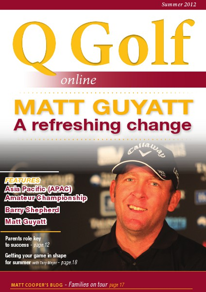 Q Golf - Official online magazine for Golf Queensland Summer 2012