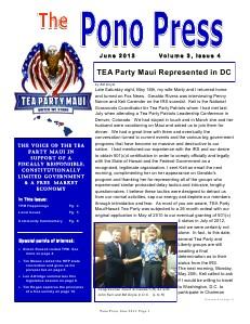Pono Press June 2013