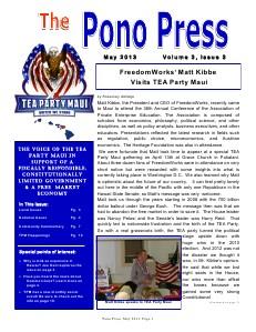 Pono Press May 2013