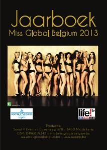 Miss Global Belgium Jaarboek 2013 Nov. 2013