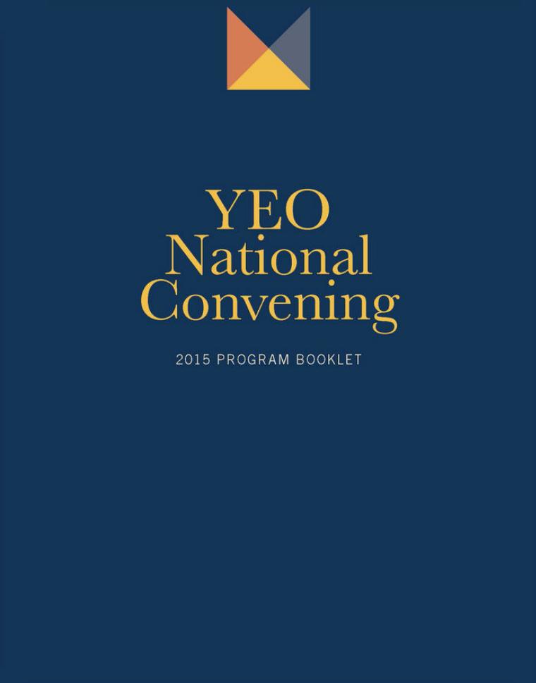 National Convening Program Books 2015 YEO National Convening Program Book