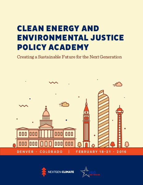 YEO Policy Academies Clean Energy & Environmental Justice Pol. Academy
