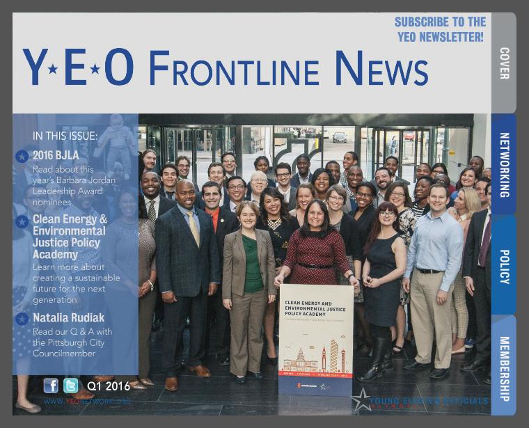 YEO Frontline News 1st Quarter, 2016