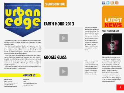 Urban Edge DIGI Mag 01 March 2013