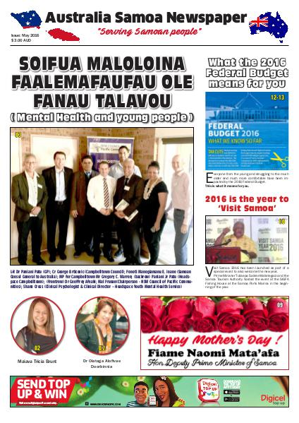 Australia Samoa Newspaper May 2016