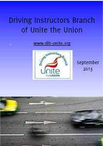 Driving Instructors Branch of Unite the Union September 2013