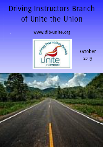 Driving Instructors Branch of Unite the Union October 2013