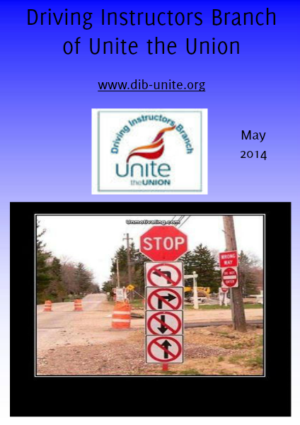 Driving Instructors Branch of Unite the Union May 2014