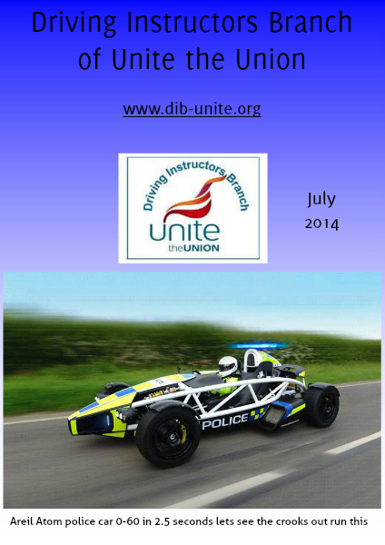 Driving Instructors Branch of Unite the Union July 2014