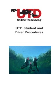 UTD Books and Manuals Preview of Student & Diver Procedures Manual v2.0