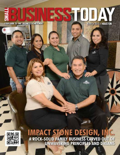 Small Business Today Magazine MAR 2015 IMPACT STONE DESIGN