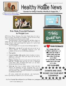 Healthy Home Newsletter August 2013 - Volume XVII, Issue 8