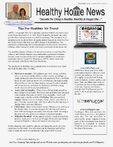 Healthy Home Newsletter December 2013 - Volume XVll 12