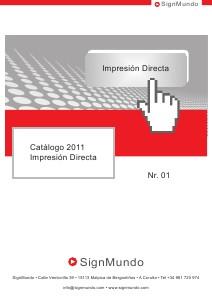 SignMundo Catálogo Papeles Transfer 2011 SignMundo Catálogo Impresión Directa 2011