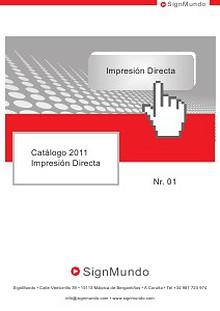 SignMundo Catálogo Papeles Transfer 2011
