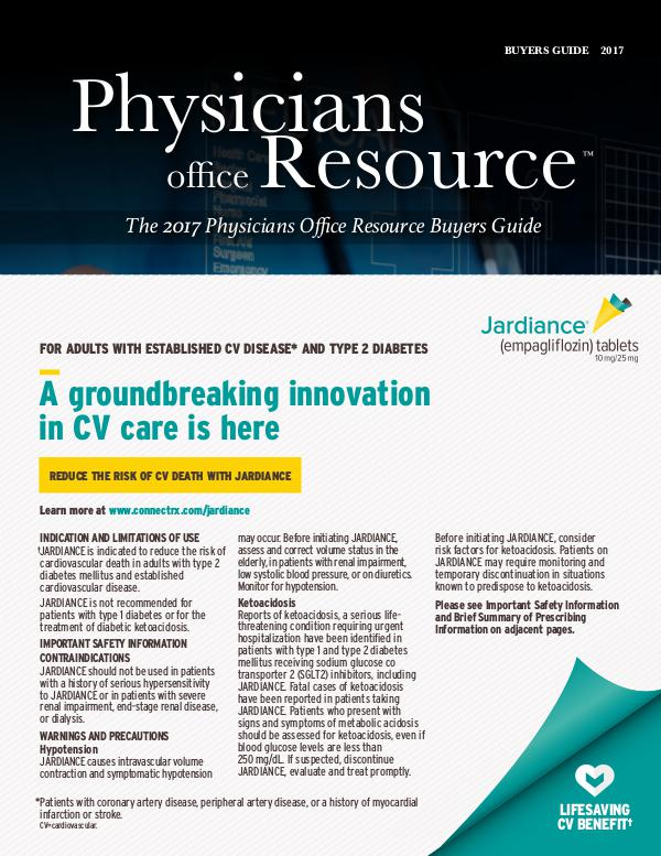 Physicians Office Resource Volume 11 Issue 01