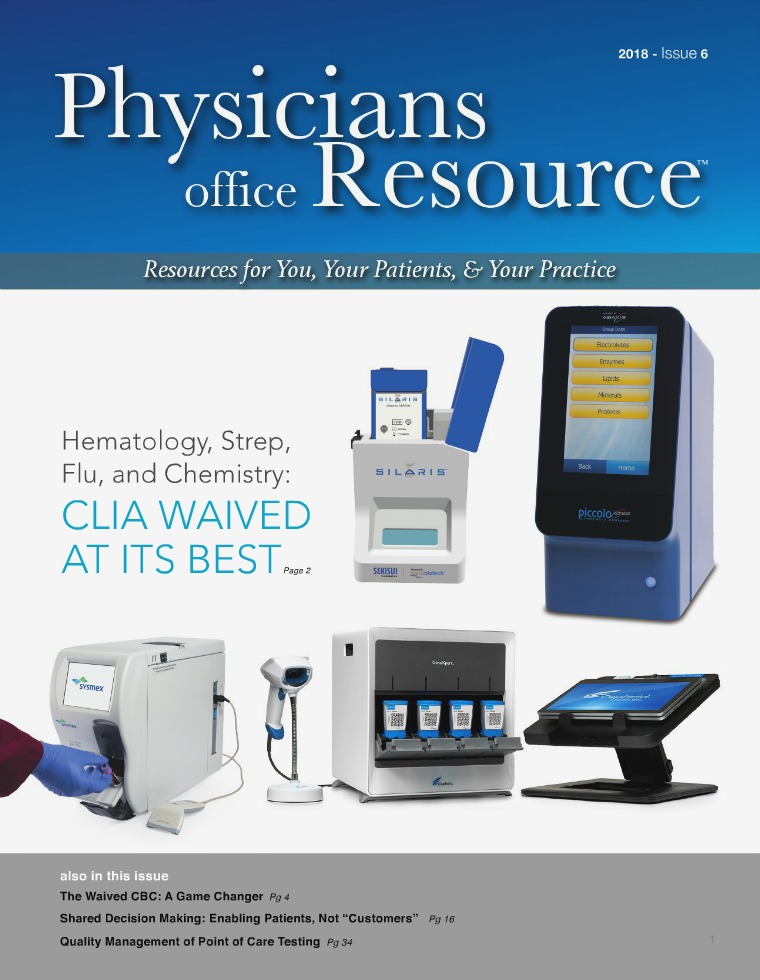 Physicians Office Resource Volume 12 Issue 6