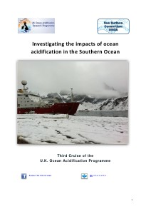 Investigating the impacts of ocean acidification in the Southern Ocean - Antarctic Cruise