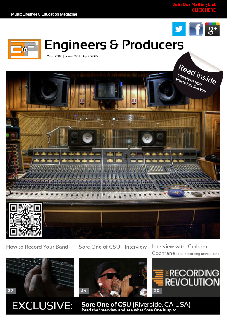Engineers & Producers Issue # 1 Engineers & Producers Issue # 1