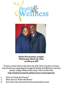 Invitation to our Online Webinar tonight