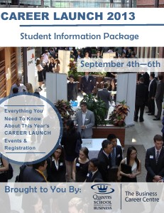 Career Launch 2013 Student Information Package