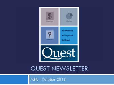 MBA Quest Newsletter MBA October 2013