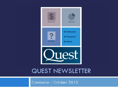 Commerce Quest Newsletter October 2013