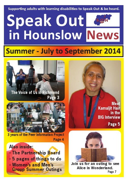 Speak Out News - July - Sep 2014 July-Sep 2014