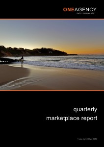 Quarterly Marketplace Report January to March 2013