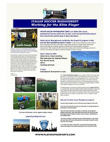 Elite Soccer Development Program in Italy