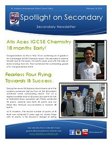 Spotlight on Secondary Newsletter