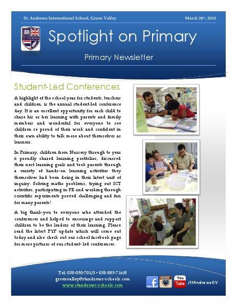 Spotlight on Primary Newsletter Term 2 Week 10
