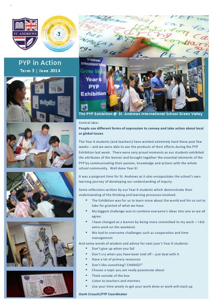 PYP in Action Newsletter Issue 10 [English]