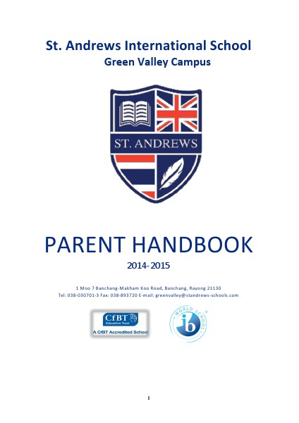 Secondary Parent Handbook Issue 2014-2015