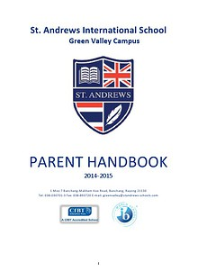 Secondary Parent Handbook