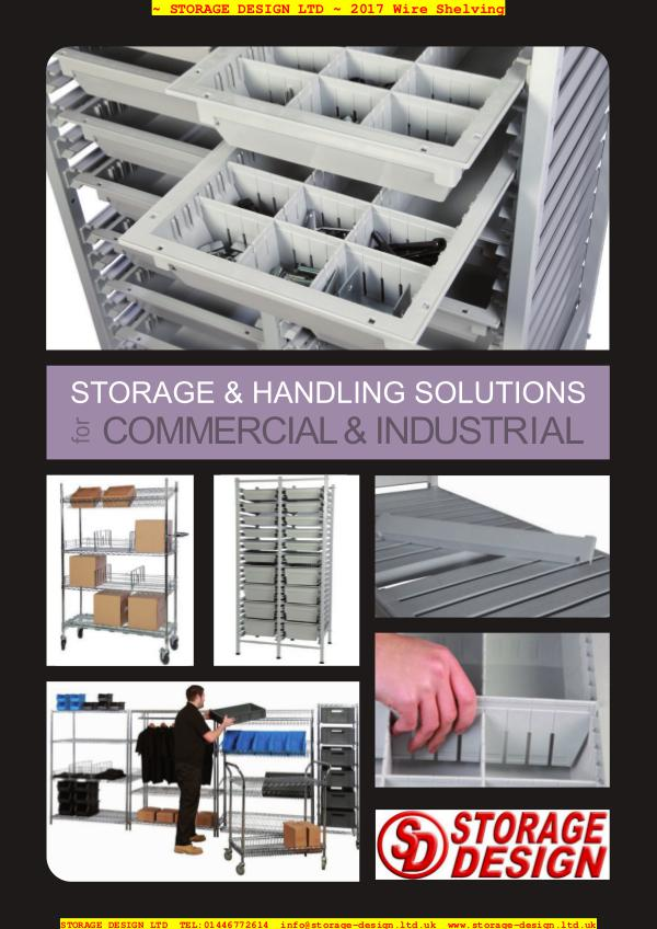 Wire Shelving and Hygienic Shelving Systems from Storage Design Ltd SDL Wire Shelf 2017 literature_opt