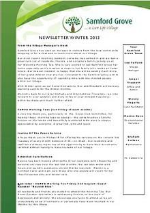 Samford Grove - Newsletter