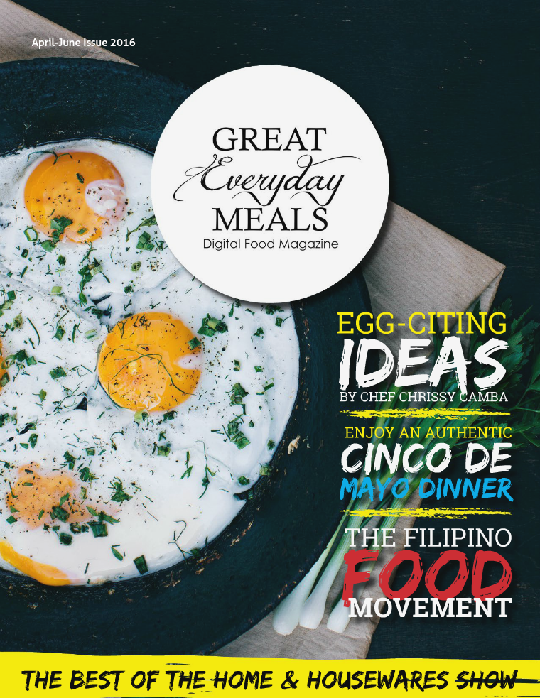 Great Everyday Meals Magazine | By Momma Cuisine April-June 2016