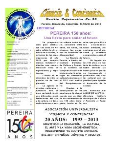 REVISTA INFORMATIVA CIENCIA Y CONCIENCIA No. 28 Primavera 2013