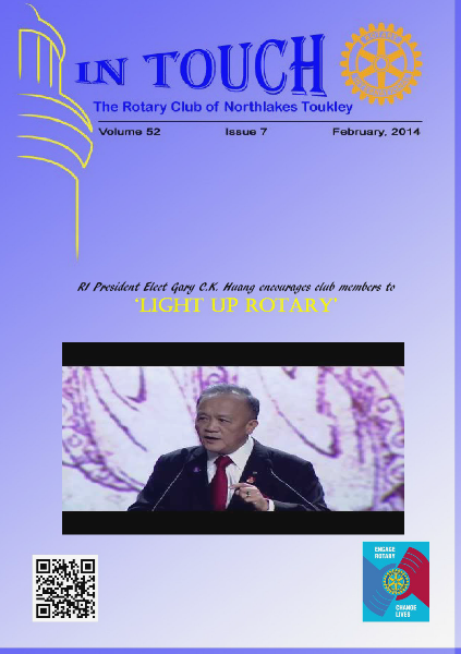 Rotary Club of Northlakes Toukley In Touch February 2014