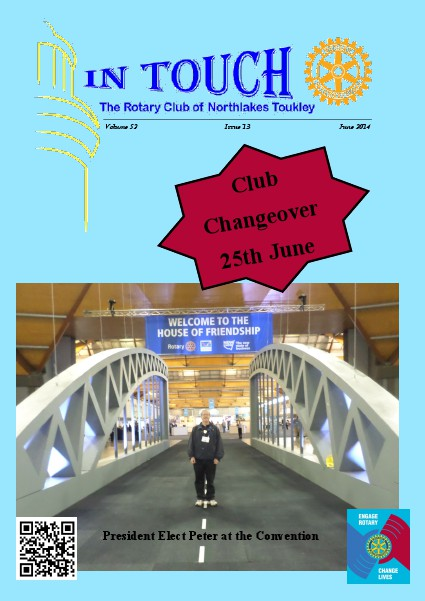 Rotary Club of Northlakes Toukley In Touch June 2014