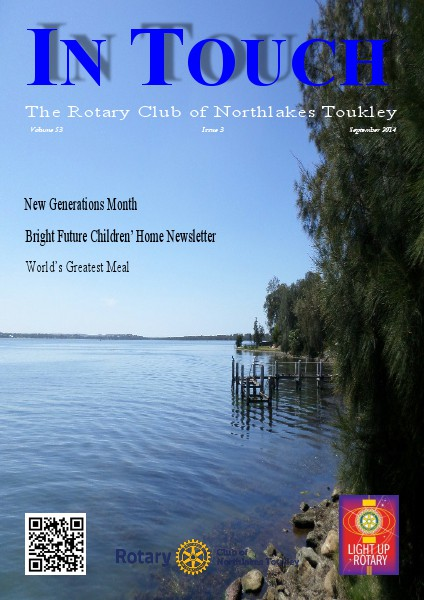 Rotary Club of Northlakes Toukley In Touch September 2014
