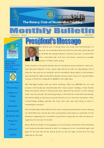 Rotary Club of Northlakes Toukley In Touch April 2013