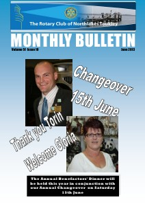 Rotary Club of Northlakes Toukley In Touch June 2013