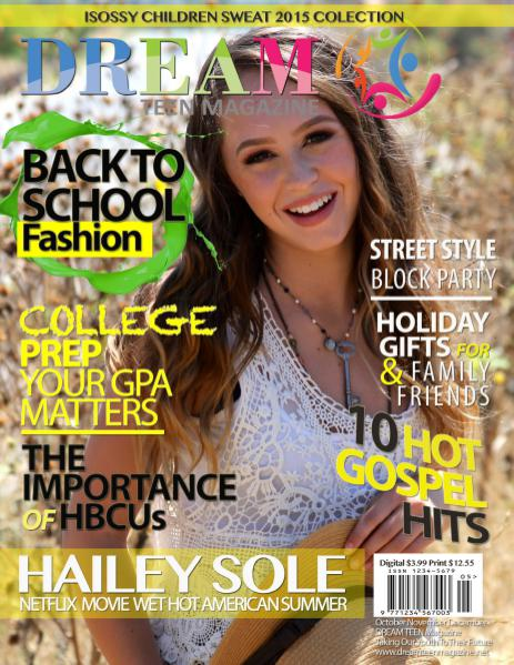 DREAM TEEN Magazine Fall October | November | December 2015